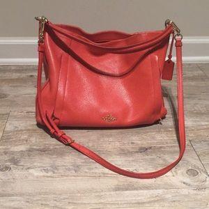 Coach Oversized Crossbody Bag—Poppy Red
